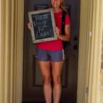 Where did the time go? @Annie_Kunz went to her last first day of school. #12thMan #gigem #backtoschool http://t.co/7Cz05TCPwT