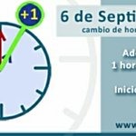Sábado 6 de Septiembre comienza el horario de Verano. Deberán adelantar sus relojes en una hora. http://t.co/Uv7oRMrtYE