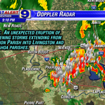 RT @Jay_WAFB: A new round of lightning-charged storms tracking to the east at 10-15 mph. #BatonRouge #LAwx http://t.co/4clQ3QQWSz
