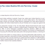 @mediacrooks If India Attacks Pak, Indian Muslims Will Join Pak Army: Owaisi,no media outrage? http://t.co/5ltCFHXl2K http://t.co/hLpwuUWgVE