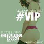 RT @StarbabyEntNYC: COUNTDOWN to The Burlesque Boudoir #NYFW2014 EVENT! 24 hrs left until we see the #models #strut the #runway #NYC http://t.co/bsrtIl56Ah