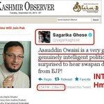 Whattay intelligent comment by @timesofindia commentator @sagarikaghose (wife of moral compass fame) on @asadowaisi http://t.co/dDbkRdUqbn