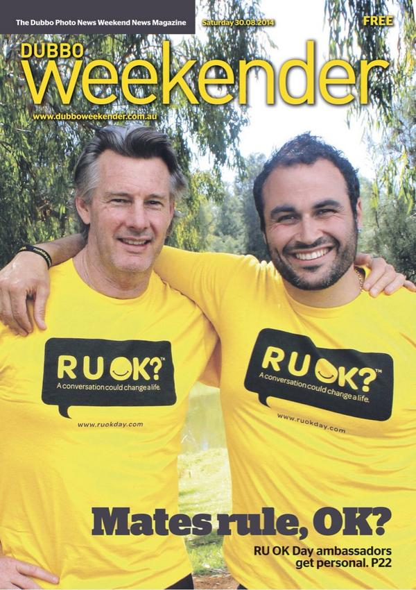 Very proud to be in #Dubbo this week with my close freind and inspiration @TheCrazyBull @ruokday #RUOK http://t.co/3lU4VOQna0