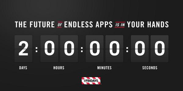 The future of #EndlessApps is now in your hands. Just retweet to add time to the clock.  http://t.co/72Fglm1mDE http://t.co/2vlN7sBa0P