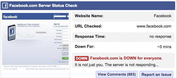 It's not just you. #Facebook #facebookdown http://t.co/Go2t3zM8Yn