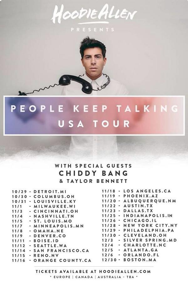 People Keep Talking !!!!! Going on the road with the bro @HoodieAllen this fall . Mic check 1 2 http://t.co/nmu9dFAqD1