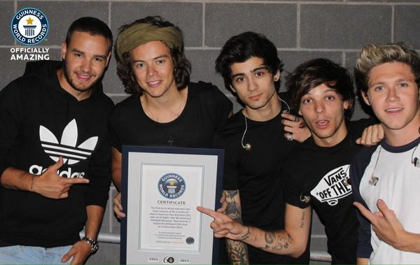 Congratulations to @onedirection who've made it into our 2015 book! http://t.co/J5uIkInuuw #gwr60 #1D http://t.co/ioEJoLAH8I
