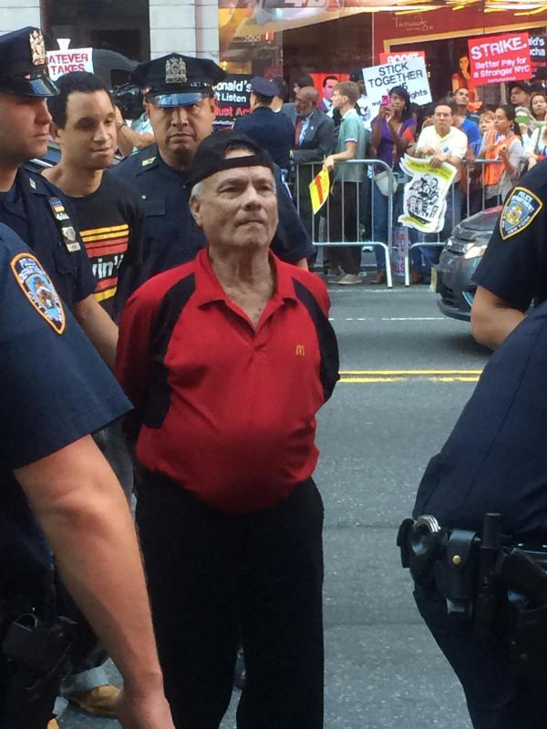 81-year-old McDonald's worker Jose Carillo arrested at a fast food protest http://t.co/KWVWDXSuT1 (h/t Fight For 15) http://t.co/d4RLWfqRTv
