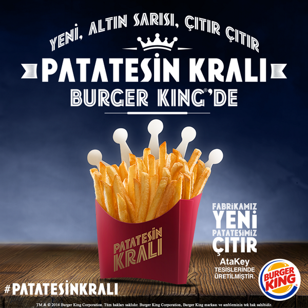 İşte Beklenen Gün Geldi! Yeni, Altın Sarısı, Çıtır Çıtır Patatesin Kralı Burger King®'de! #PatatesinKralı http://t.co/NhNjSqzNWk