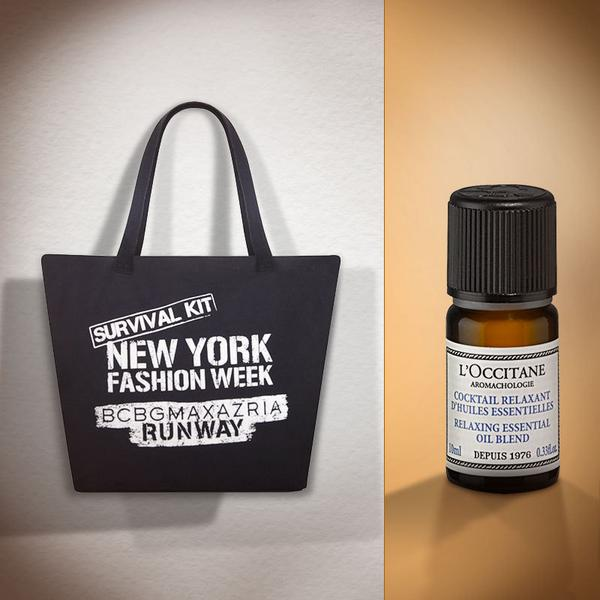The #BCBGx25RunwayKit helps models get through #NYFW. Here's your chance to win one! To enter, follow @loccitane & RT http://t.co/KCKXLCm7y2