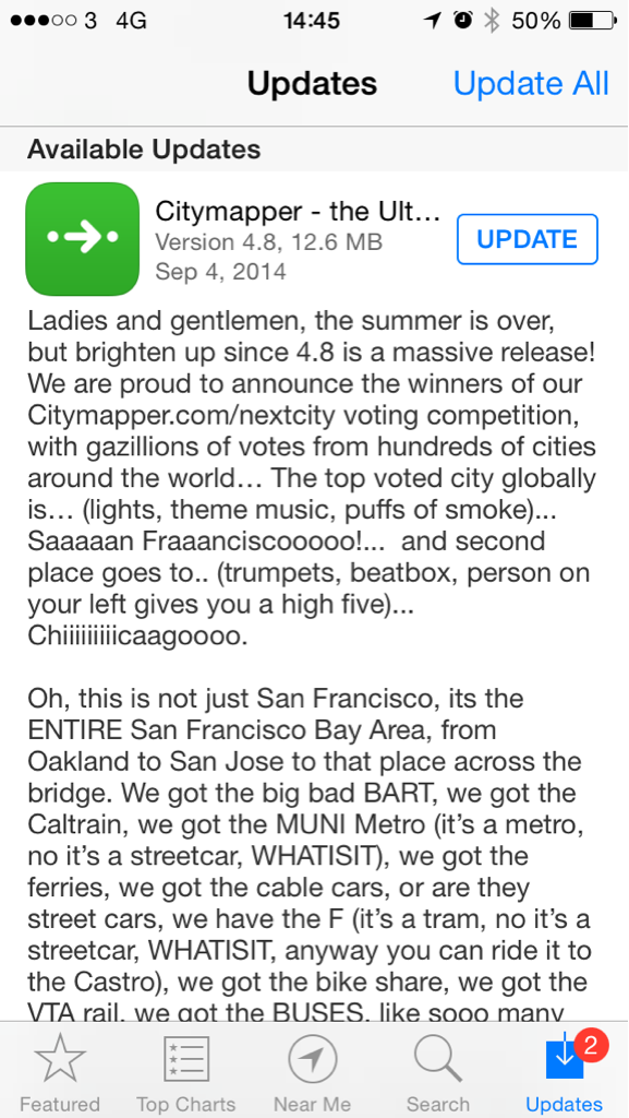 Huge Citymapper update adds San Francisco & Chicago public transport info. Real time tracking too. Best transport app http://t.co/MUVD0GzYBc