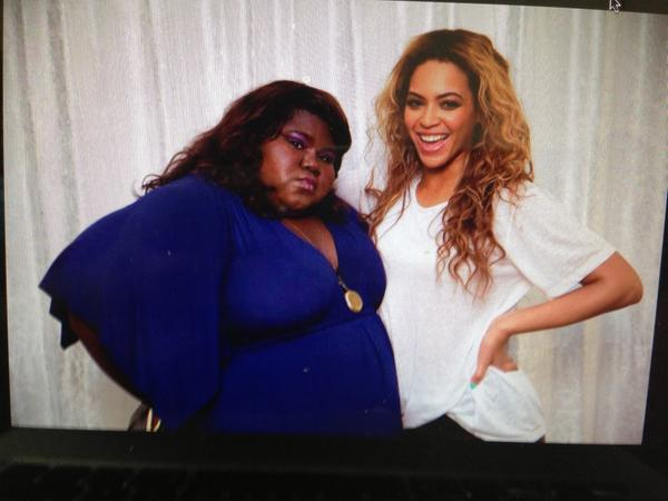 """@GabbySidibe: It's Beyonce's Birthday AND it's Thursday! #HappyBeyDay #tbt http://t.co/yYEf9EIEMY"""