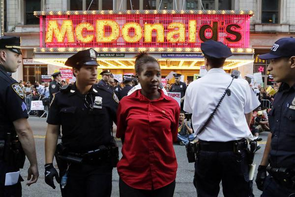 Incredible images coming out of the fast food strikes across the country--follow #strikefastfood for more. http://t.co/3gaHJPUNfQ