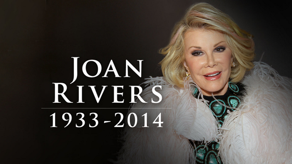 "RIP to one of the funniest woman in the Business RT""@ABC: Joan Rivers -- 1933 - 2014  http://t.co/1CbVIKBXll http://t.co/5Qny9zKOx1"""