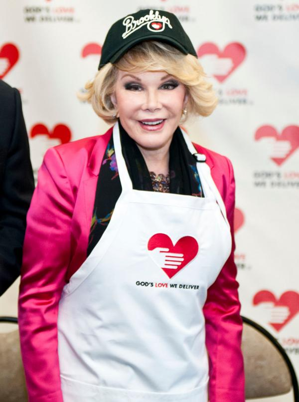 God's Love mourns the passing of our wonderful friend and Board member @Joan_Rivers. She is forever in our hearts. http://t.co/b41BRQLSkt