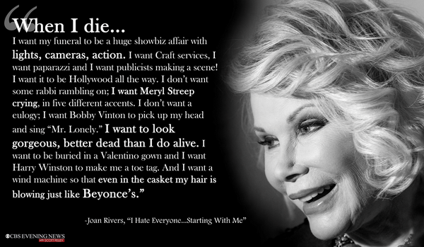 Joan Rivers on her death:  #RIPJoanRivers http://t.co/pIcqGhgxrD