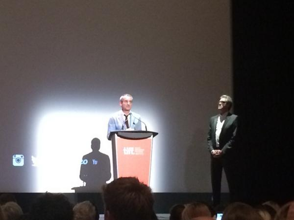 Olivier Assayas and Piers Handling at the premiere of Clouds of Sils Maria. #TIFF14 http://t.co/w2mHzcp1Ce