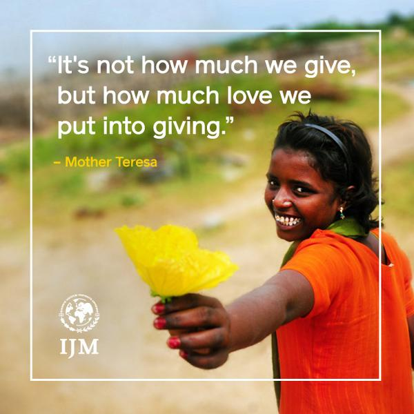 #Charity #Giving #Quote http://t.co/x0nfRg4WOb /via @IJM