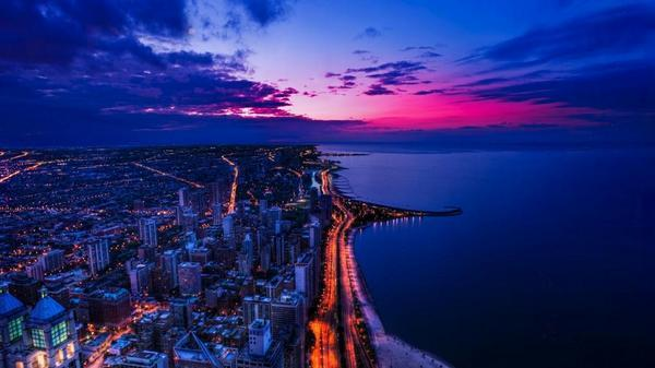 Chicago at Sunset http://t.co/ckT8ou8t4C