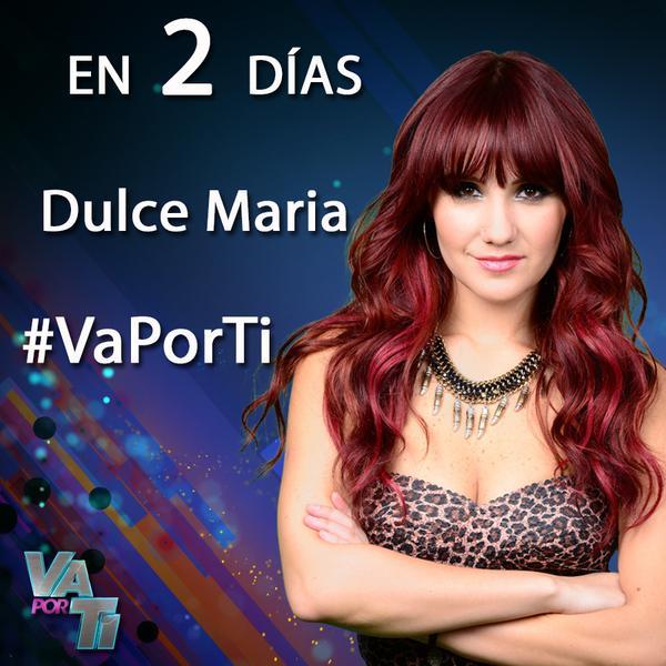 En 2 días @DulceMaria necesitará tu apoyo en #VaPorTi. ¡RT si lo tendrá! http://t.co/cOAlGsZ8oH