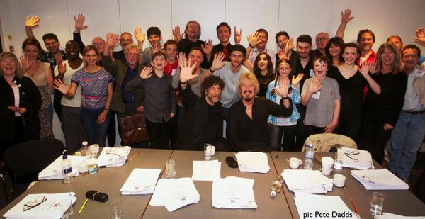 Good Omens is coming to Radio 4 - FIRST cast photo here. @serafinowicz @neilhimself  @terryandrob @louisebrealey http://t.co/f4eRry8hv3