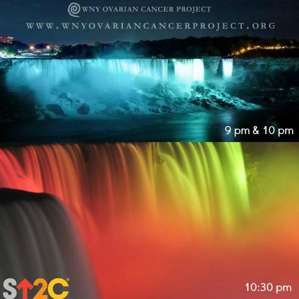 The Falls will be illuminated tonight for International #WearTealDay and @SU2C! #SU2C #NiagaraUSA @WNYOCP http://t.co/hdiiUSCROH