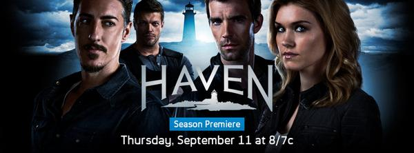 """Help spread the news! RT! """"@HavenHerald: #HAVEN5 Our premiere time moved to 8/7c this Thursday on @Syfy http://t.co/Jd1Jgempok"""""""
