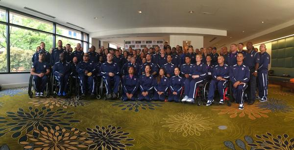 Introducing your US team for @InvictusLondon! #IAMUSA @WarriorCare Go for gold! http://t.co/rABD3IBXXU