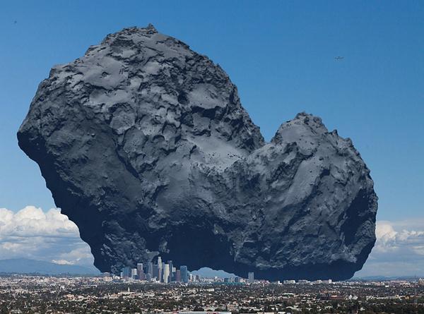 Фото кометы 67P/C-G с зонда Розетта не передают ее размера и цвета: а она вот такая http://t.co/DqEU62dW6h http://t.co/Ex85suPBT7
