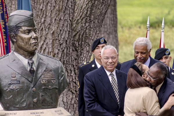 GEN (R) Colin Powell Bust Dedication Ceremony was held today at Fort Leavenworth, KS in the Circle of Firsts http://t.co/7VWIJjKTAL