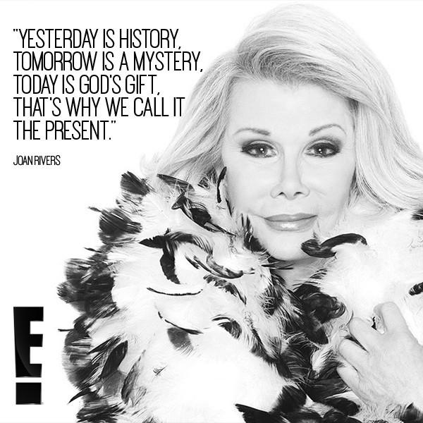 """East Coast, the E! special """"Joan Rivers: Celebrating an Icon"""" is starting now. Watch as we remember our friend. <3 http://t.co/SWY6iwZB36"""