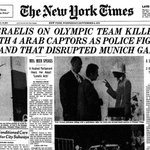 RT @NYTArchives: On this day in 1972, 11 members of the Israeli Olympic team are killed in Munich. http://t.co/PSVbtqQrdR http://t.co/0o5j9…