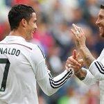 HT: Deportivo 0-3 Real Madrid (28', 41 @Cristiano, 36' @jamesdrodriguez). #DEPvsRealMadrid #RMLive http://t.co/nKgW6nfBKz