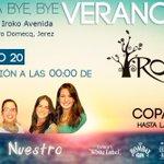 FIESTA BYE BYE VERANO14! HOY jaleo del bueno con la actuación de @GrupoALoNuestro #Jerez #HoySeLia #IrokoAvenida http://t.co/Pm4VZu3OHZ