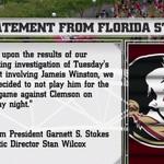Florida States statement on the suspension of Jameis Winston. http://t.co/DjwK74advY