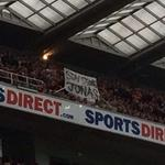RT @BBCSporf: CLASS: Hull City fans with this banner at Newcastle this afternoon. http://t.co/3XOGUneVH2