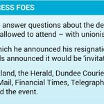 Defeated and dejected, Salmonds final act of petulance was to ban the papers that held him to account: #indyref http://t.co/tMNSHnnKeQ