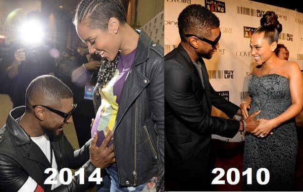 Some things don't change @aliciakeys @Usher #friendship #pregnant #babybump #iHeartRadio  #iheartradiomusicfestival http://t.co/bHbBhpB4rd