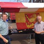 Gemeenteraad aanwezig op het @havenfestival1 ivm zoektocht nieuwe burgemeester. Nu met @ArcoSt en @RinusvLavieren. http://t.co/Cts4PFp7jW