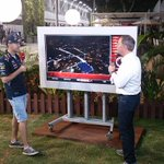 RT @SkyF1Insider: Coming up in our qualifying show Sebastian Vettel makes his debut at the #SkyPad @skysportsf1 @redbullracing #SkyF1 http://t.co/fCeBE7qDxY
