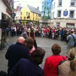 RT @sineadcas: @anthonyryans great job guys #fashionshow in the HEART of #Galway... Love your tactics #guerillamarketing  http://t.co/o3q1uOzz7q