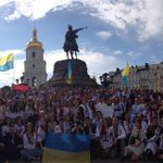 RT @HromadskeTV: А у Києві зараз #МегаМаршВишиванок http://t.co/5f58DuRg4f