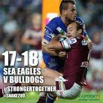 :( RT @SeaEagles FULLTIME: @SeaEagles 17-18 @NRL_Bulldogs http://t.co/8tX9Q9LFQc