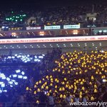 [TLP in Beijing] blue for tao, yellow for luhan, green for chanyeol http://t.co/4AwnbqLo32