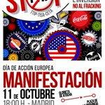 RT @tomkucharz: [Manifestación] 11 de octubre: Día de Acción Europea contra el #TTIP y #Fracking #NoalTTIP https://t.co/zA8TQkjjkK http://t.co/9FdZijtfZt