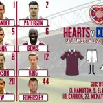 RT @JamTarts: Team to face Cowdenbeath this afternoon: http://t.co/FZAwgPRKIM