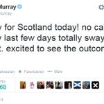 """Lasst es uns tun"": Tennisstar Andy Murray @andy_murray zum #indyref #schottland, mehr als 16.000 Mal geteilt http://t.co/Bc9bs6vboh"
