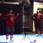 RT @Russostrib: Former #sabres Jason Pominville and Thomas Vanek posing for some pics http://t.co/Rx1xBMusV1