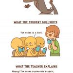 RT @9GAG: Literature class in a nutshell http://t.co/bTwDH76Pil http://t.co/vfKWbBC3BJ