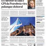 """""""@Estadao: Capa de hoje: Ex-diretor se cala e CPI da Petrobrás vira palanque eleitoral http://t.co/L0xkXYJq5B http://t.co/m8dPATdhlV"""" NOJOOO"""